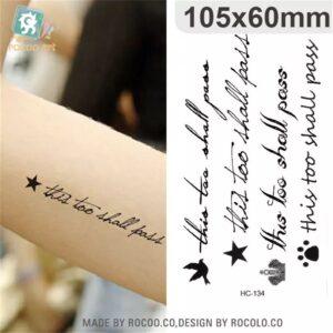 Tatouage écriture HC-134